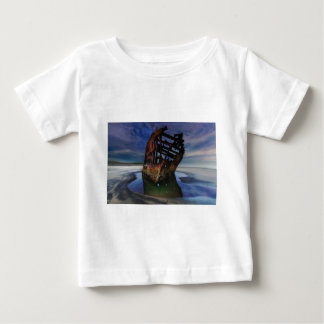 Peter Iredale Shipwreck Under Starry Night Sky Baby T-Shirt