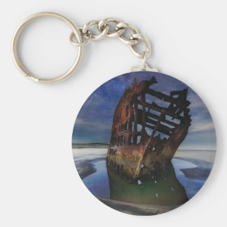 Peter Iredale Shipwreck Under Starry Night Sky Keychain