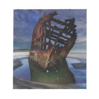 Peter Iredale Shipwreck Under Starry Night Sky Notepad