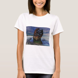 Peter Iredale Shipwreck Under Starry Night Sky T-Shirt