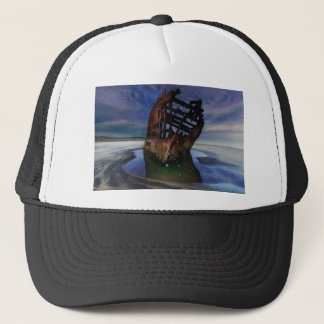 Peter Iredale Shipwreck Under Starry Night Sky Trucker Hat
