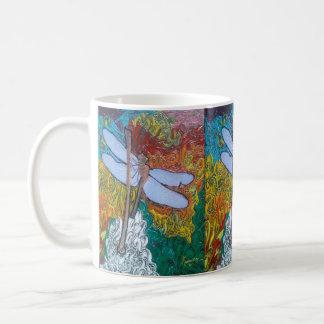 """""""peter max art style"""" dragon fly mug"""