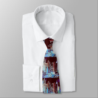 """""""peter max art style"""" NYC tie"""