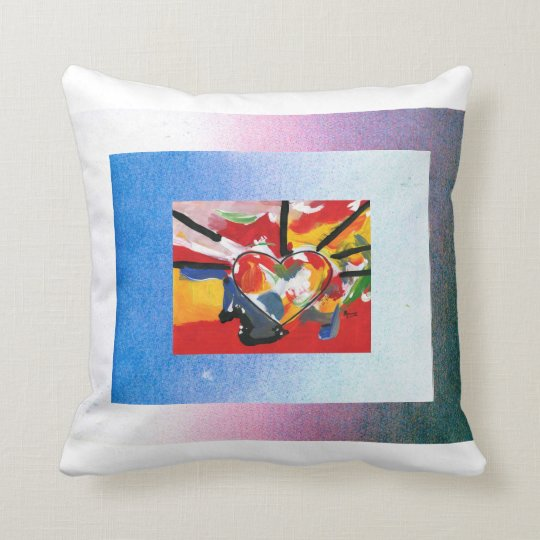 Peter Max style artwork American MoJo Pillow