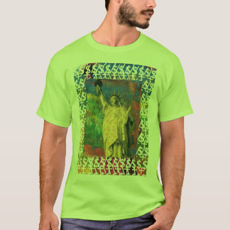 Peter Max style design Statue of Liberty t-shirts