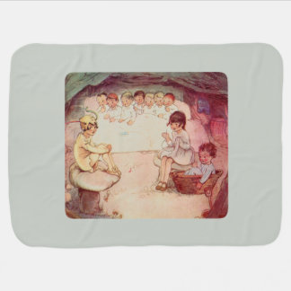 Peter Pan and Wendy Underground with Lost Boys Baby Blanket