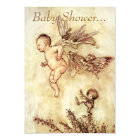 Peter Pan As Flying Baby - Baby Shower Invite
