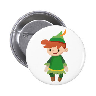 Peter Pan 2 Inch Round Button