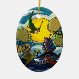 Peter Pan Ceramic Ornament