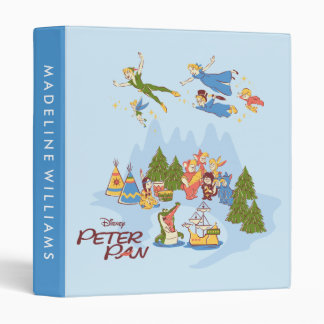 Peter Pan Flying over Neverland 3 Ring Binder
