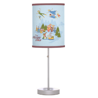Peter Pan Flying over Neverland Table Lamps