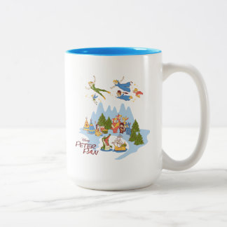 Peter Pan Flying over Neverland Two-Tone Coffee Mug