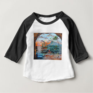 Peter Pan Hook's cove Tinker Bell painting Baby T-Shirt