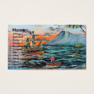 Peter Pan Hook's cove Tinker Bell painting Business Card