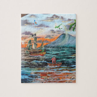 Peter Pan Hook's cove Tinker Bell painting Jigsaw Puzzle