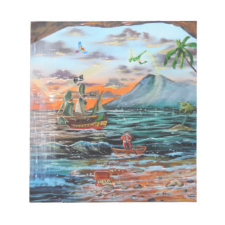 Peter Pan Hook's cove Tinker Bell painting Notepad
