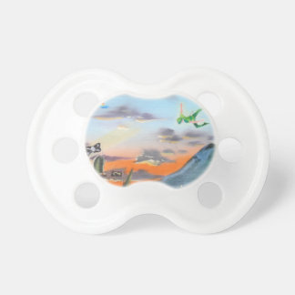 Peter Pan Hook's cove Tinker Bell painting Pacifier