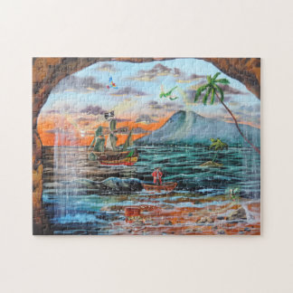 Peter Pan Hook's cove Tinker Bell painting Puzzles