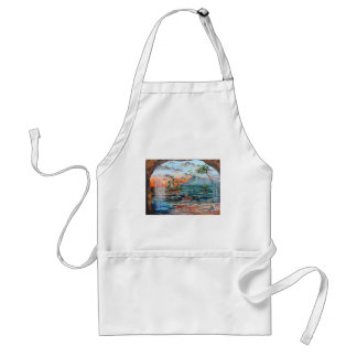 Peter Pan Hook's cove Tinker Bell painting Standard Apron