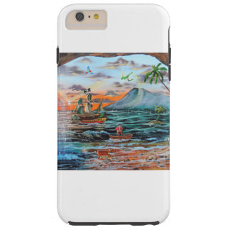Peter Pan Hook's cove Tinker Bell painting Tough iPhone 6 Plus Case