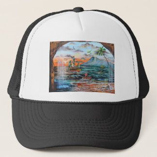 Peter Pan Hook's cove Tinker Bell painting Trucker Hat