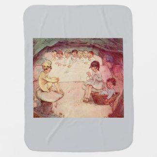 Peter Pan on mushroom Wendy Sewing Lost Boys blue Baby Blanket