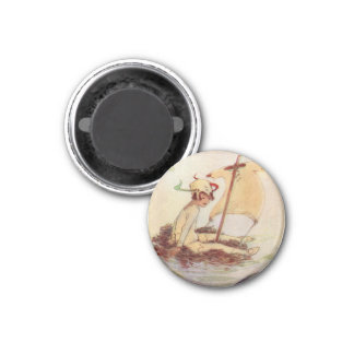 Peter Pan on Nest Raft - magnet