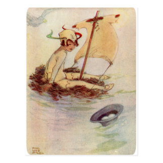 Peter Pan on Nest Raft Postcard