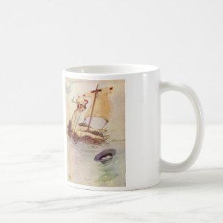 Peter Pan original book illustration - sail raft Basic White Mug
