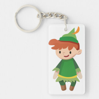 Peter Pan Single-Sided Rectangular Acrylic Keychain