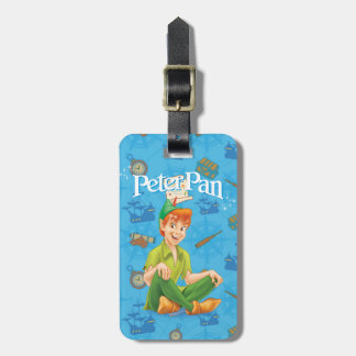 Peter Pan Sitting Down Luggage Tag