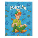 Peter Pan Sitting Down Poster