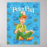 Peter Pan Sitting Down Posters