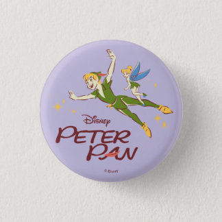 Peter Pan & Tinkerbell 1 Inch Round Button