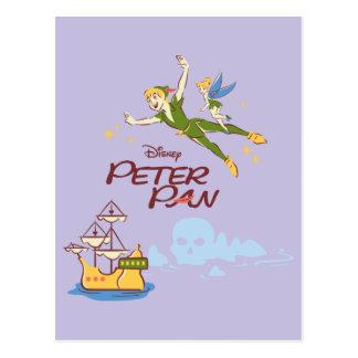 Peter Pan & Tinkerbell Postcard