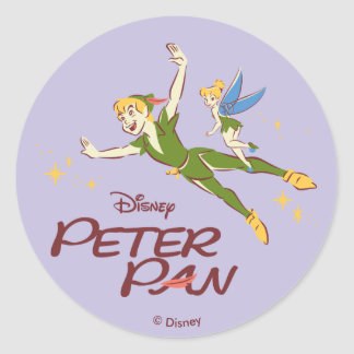 Peter Pan & Tinkerbell Round Sticker