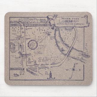 Peter Pan's Map of Kensington Gardens Mouse Pad