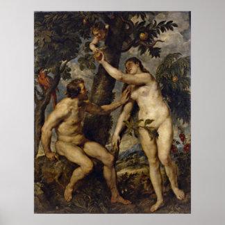 Peter Paul Rubens - Adam and Eve Poster