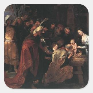 Peter Paul Rubens- Adoration of the Magi Square Sticker