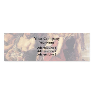 Peter Paul Rubens-Diana Presentig the Catch to Pan Business Card Template