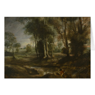 Peter Paul Rubens - Evening Landscape with Timber Card