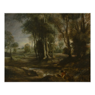 Peter Paul Rubens - Evening Landscape with Timber Poster