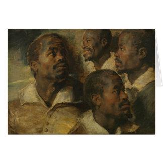 Peter Paul Rubens - Four Studies of a Head Card
