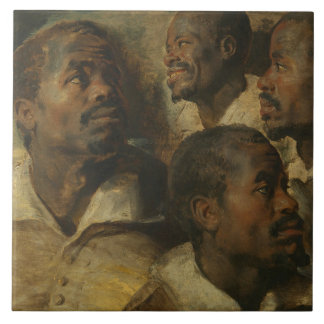 Peter Paul Rubens - Four Studies of a Head Tile