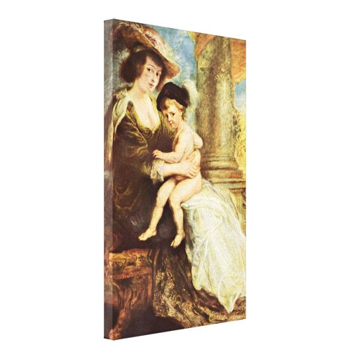 Peter Paul Rubens - Helene Fourment with her son Canvas Prints