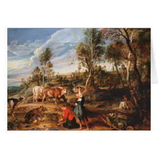 Peter Paul Rubens - Milkmaids with Cattle Card