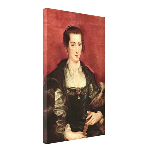Peter Paul Rubens - Portrait of Isabella Brant Stretched Canvas Print