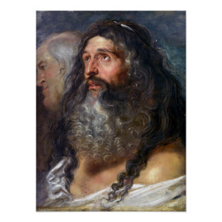Peter Paul Rubens Study of Two Heads Poster