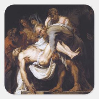 Peter Paul Rubens- The Entombment Square Sticker