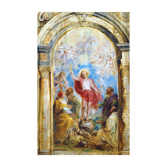 Peter Paul Rubens The Glorification of the Euchari Canvas Print
